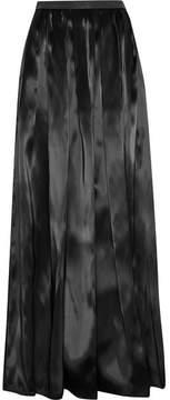 Brunello Cucinelli Embellished Organza Maxi Skirt - Black