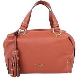 Liu Jo Women's Red Faux Leather Shoulder Bag.