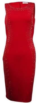 Calvin Klein Women's Studded-Trim Jersey Sheath Dress