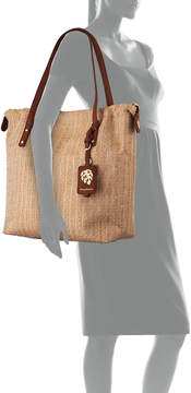 Tommy Bahama Crete Canvas Tote Bucket Bag