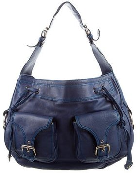 Marc Jacobs Leather Drawstring Bag - BLUE - STYLE