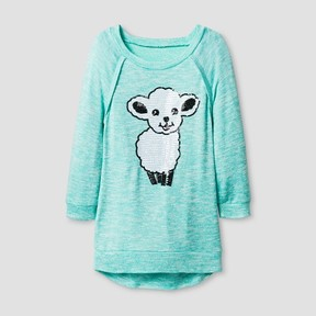 Miss Chievous Girls' Tunic w/ Sequined Lamb - Blue