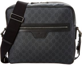 Gucci Gg Supreme Canvas & Leather Messenger