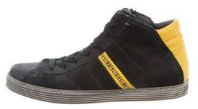 Bikkembergs Leather High-Top Sneakers