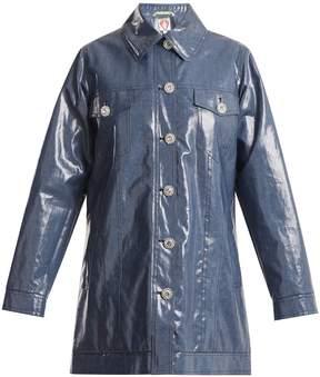 DAY Birger et Mikkelsen SHRIMPS Filippo crystal-button coated-denim jacket