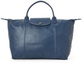 Longchamp Light Blue Le Pliage Cuir Medium Satchel - LIGHT BLUE - STYLE