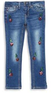 Vigoss Little Girl's Cherry Tree Jeans