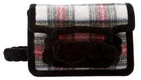 Miu Miu Velluto-Trimmed Plaid Mini Bag w/ Tags