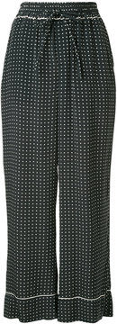 ESTNATION polka dot wide-leg trousers
