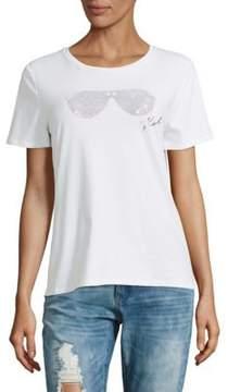 Karl Lagerfeld Sunglass Stud Tee