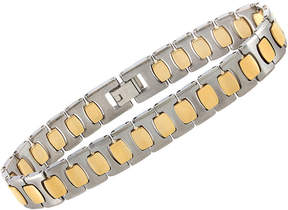 JCPenney FINE JEWELRY Mens Two-Tone Tungsten Link Bracelet