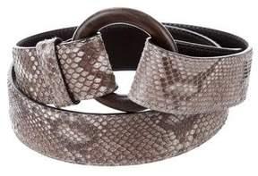 Loro Piana Snakeskin Waist Belt