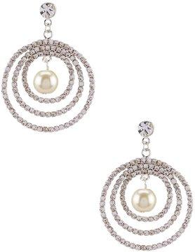 Cezanne Faux-Pearl Orbital Drop Earrings