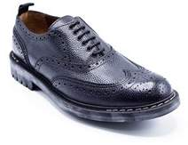 Givenchy Mens Black Brogue Lace Up Leather Dress Shoes.