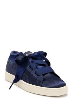 Puma Basket Heart Satin Sneaker (Big Kid)