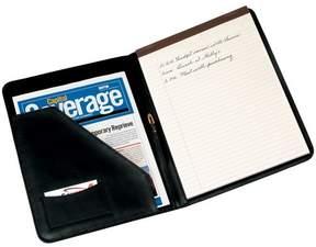 Royce Leather Royce Luxury Suede Lined Genuine Leather Writing Portfolio - Black