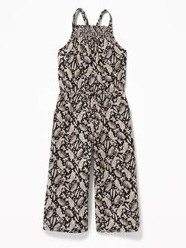 Old Navy Slub-Knit Wide-Leg Jumpsuit for Girls
