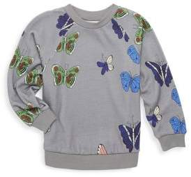 Mini Rodini Baby's, Toddler's, Little Girl's & Girl's Butterflies Sweatshirt