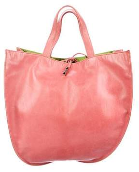 Tumi Leather Tie Closure Handle Bag
