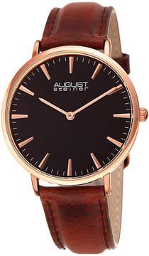 August Steiner Womens Brown Strap Watch-As-8247rgbr