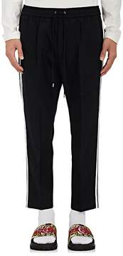 Gucci Men's Double-Striped Cotton-Blend Crop Trousers