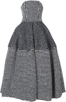 Christian Siriano striped ball gown