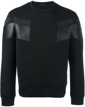 Les Hommes front print sweatshirt