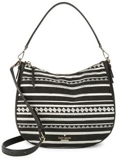 Kate Spade Mylie Embroidered Hobo Bag - BLACK - STYLE