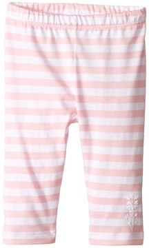 Fendi Striped Leggings w/ Floral Logo Detail (Infant)