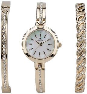 Croton N/A Mens Silver Tone Bracelet Watch-Ca301295bkyl
