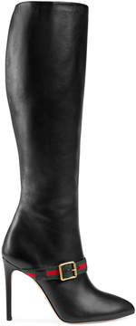 Gucci Sylvie leather knee boot