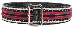 Saint Laurent Men's Multicolor Cotton Belt.