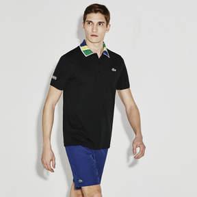 Lacoste Men's Sport Print Neck Technical Piqu Tennis Polo