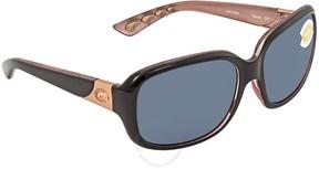 Costa del Mar Gannet Gray 580P Rectangular Sunglasses GNT 132 OGP