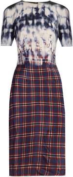Altuzarra Glaze tie-dye and checked dress