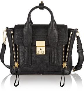 3.1 Phillip Lim - The Pashli Mini Textured-leather Trapeze Bag - Black