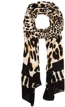 Juicy Couture Chateau Palladium Leopard Scarf