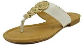 Alfani Harlquin Women Open Toe Synthetic White Thong Sandal.