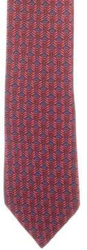 Hermes Silk Abstract Tie