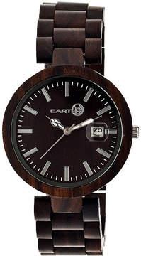 Earth Wood Stomates Dark Brown Bracelet Watch with Date ETHEW2202