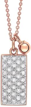 ginette_ny Mini Diamond Ever Rectangle Necklace - Rose Gold