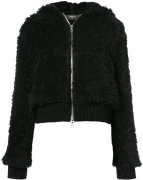 Amiri Sherpa hooded zip-up jacket