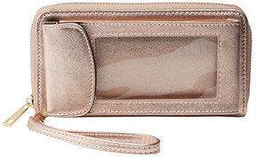 Metallic Smartphone Wristlet Wallet