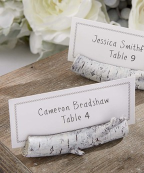 Birch Place Card Holder - Set of 12