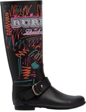 Burberry 20mm Pip Field Doodle Rubber Rain Boots