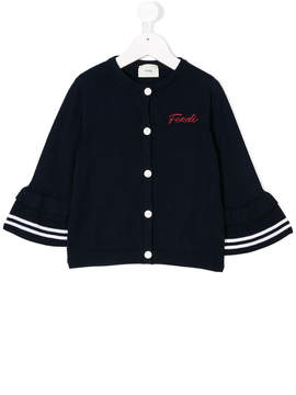 Fendi logo embroidered cardigan