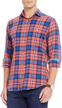 Daniel Cremieux Sologne Slim-Fit Plaid Long-Sleeve Woven Shirt