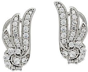 Diamonique Angel Wing Earrings, Sterling