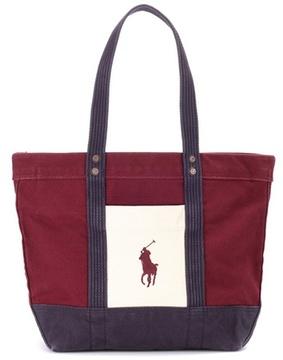 Polo Ralph Lauren Cotton canvas shopper