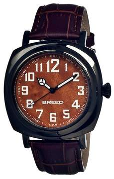 Breed Men's Mozart Watch with Genuine Burled Wood Dial